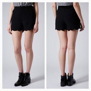 TopShop Scallop Shorts - size 4